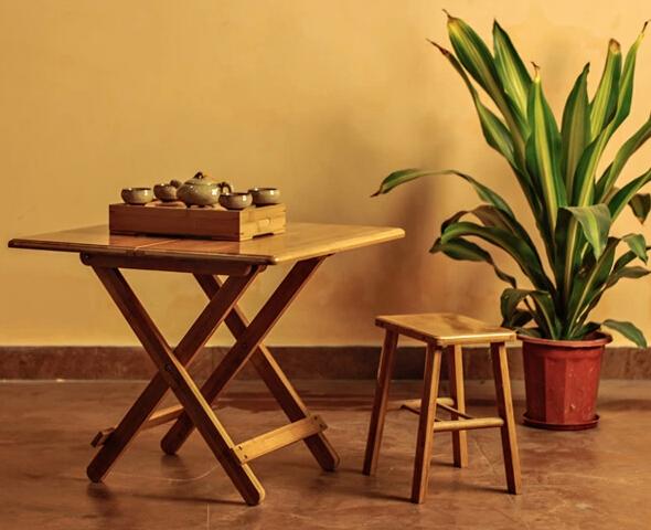 竹子桌子图片大全圆桌